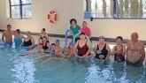 Usuarios del Centro de Día de Puerto Lumbreras participan en jornadas de natación terapéutica en el Complejo deportivo Municipal