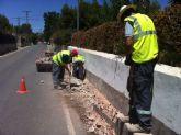 La concejalía de Infraestructuras está realizando obras de eliminación y tapado de los caños de riego en el Camino de los Molinos