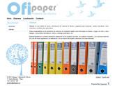 La tienda de venta y distribución de material de oficina y papelería Ofipaper ya dispone de web