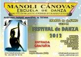 La Escuela de Danza MANOLI CÁNOVAS presenta su festival de fin de curso 2012