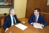 El presidente de la Confederaci�n Hidrogr�fica del Segura se re�ne con el alcalde de Alhama de Murcia