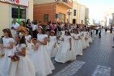 Los niños y niñas lumbrerenses que hicieron la Primera Comunión celebraron la tradicional procesión del Corpus