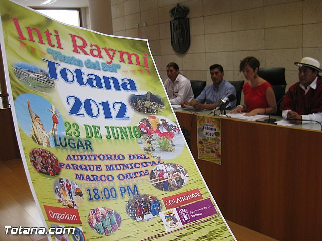 "The association FAE and the Coordinator of the People in Spain Cañarí held next June 23 in Totana the Fiesta del Sol ""Inti Raymi"""