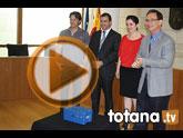 El delegado del Gobierno asiste en Totana a la instalación de un acelerógrafo para reforzar la red de detección sísmica de la falla de Alhama