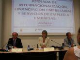 La Alcaldesa de Archena inauguró ayer las I Jornadas de Internacionalización, Financiación Empresarial y Servicios de Empleo a Empresas