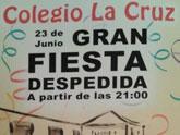 El C.E.I.P La Cruz celebra este sábado 23 una gran fiesta de despedida, a partir de las 21:00 horas