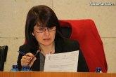 La alcaldesa de Totana anuncia una rebaja inmediata de su retribución salarial del 20 por ciento dentro de las medidas de ahorro municipal en materia de personal