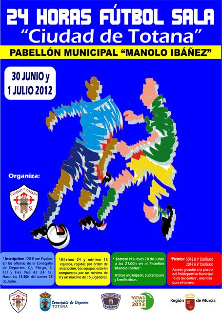 "Sports Pavilion ""Manolo Ibáñez"" hosts this weekend the tournament ""24 hours Indoor Football Totana City"""
