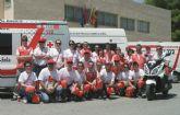 Cruz Roja de Cieza desplegó un amplio dispositivo en el regional junior de ciclismo celebrado en la Vega Alta