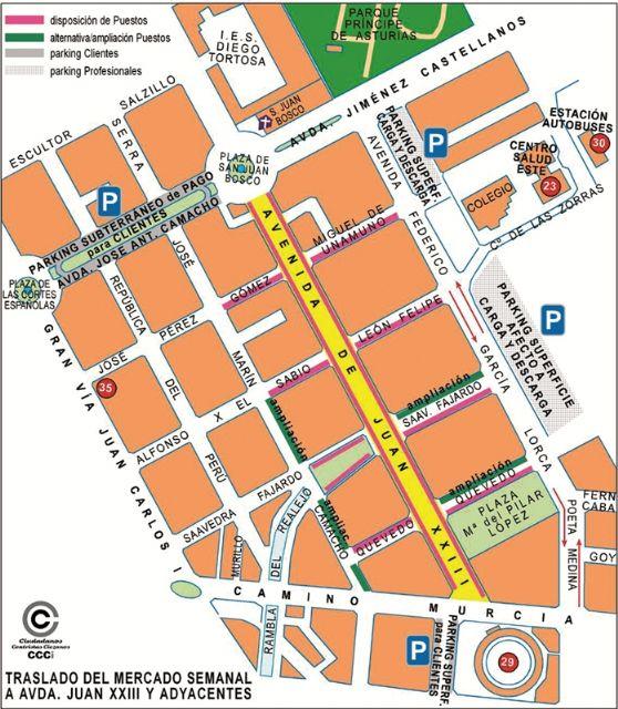 CCCi propone trasladar el mercado Semanal a la Juan XXIII - 1, Foto 1