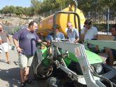 M�s de 30 agricultores participan en el curso Prevenci�n de riesgos laborales en el puesto de trabajo: manejo seguro del tractor