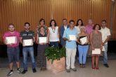 Entrega de diplomas a los 15 alumnos del curso de zapatería del Programa de Prevención e Inserción Social de Molina de Segura