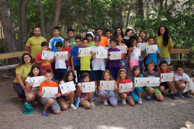 Un total de 26 niños participan en el campamento de las Aulas de la Naturaleza en el paraje de Las Alquerías, Foto 1