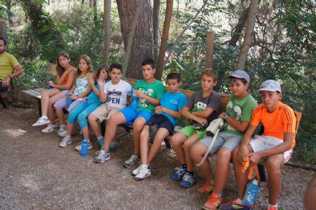 Un total de 26 niños participan en el campamento de las Aulas de la Naturaleza en el paraje de Las Alquerías, Foto 2