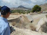 El canal del trasvase Tajo-Segura comienza a recibir agua del baipás de Ulea