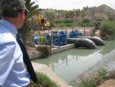 La CHS pone en funcionamiento una nueva tubería que duplica el caudal del baipás de Ulea