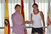 Patricia Fernández pide apoyo a la Federación Murciana de Fútbol para el nuevo 'Archena Fútbol Club'