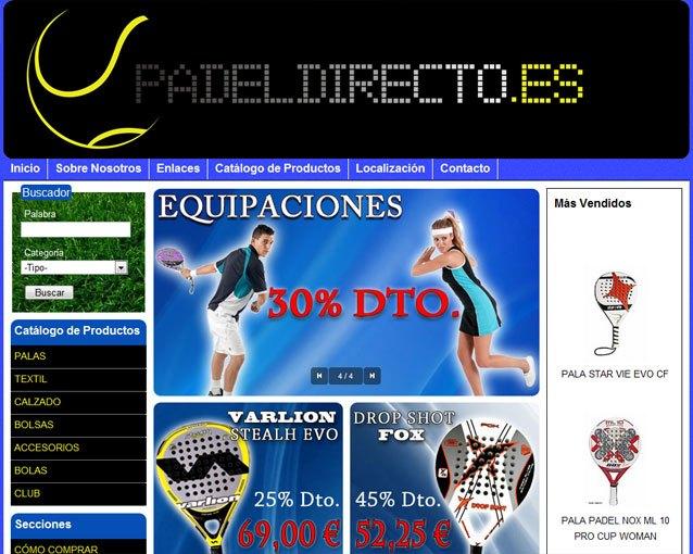 Ya puedes comprar tus productos de pádel en la nueva tienda online padeldirecto.es creada con Superweb, Foto 1