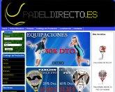 Ya puedes comprar tus productos de pádel en la nueva tienda online padeldirecto.es creada con Superweb