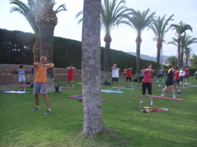 A successful participation in the program of fitness and Aquagym