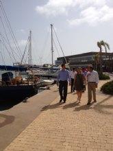 Sevilla destaca la eficacia en la gestión del puerto de San Pedro del Pinatar