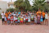 Entregados los diplomas del segundo curso municipal de nataci�n
