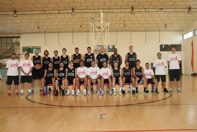 The new template UCAM Murcia performed the first training in Totana