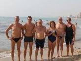 Dos totaneros participaron en la Travesia en la playa Muchavista (San juan-Alicante)