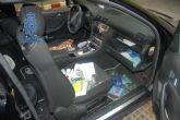 Detenida una persona autora de veintisiete robos en vehículos aparcados en las proximidades del Hospital Santa Lucia.