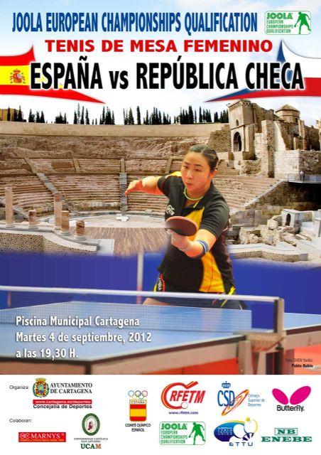 Cartagena acogerá el primer partido de tenis de mesa de la Liga Europea de Naciones Femenina - 1, Foto 1