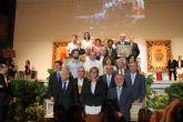 Los Alcaldes que lo fueron desde 1900 hasta 2012 y las dos acequias locales más históricas, homenajeados en la inauguración del 550 aniversario de la Fundación de Archena