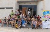 Jóvenes europeos visitan el Parque regional de Salinas y arenales de San Pedro