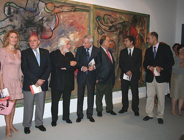 El presidente Valcárcel inaugura el nuevo espacio dedicado a la obra de Cristóbal Gabarrón en la Casa Pintada de Mula - 4, Foto 4