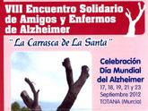 Finalizan mañana los actos conmemorativos del Día Mundial del Alzheimer con el homenaje a familiares y enfermos en la convivencia