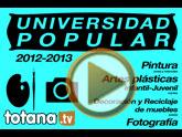 La Universidad Popular de Totana, que gestiona la Asociación 'Ministros del Aire', oferta una amplia oferta de cursos y talleres para el curso 2012/13