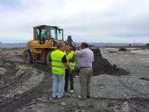 Los concejales y alcaldes pedáneos coordinan a pie de obra los dispositivos de recuperación de los accesos a las zonas de Lorca