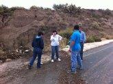 El ayuntamiento lleva a cabo las labores de limpieza y adecuación de las zonas que han sido afectadas por las lluvias de ayer que registraron un volumen de hasta 115 litros por metro cuadrado a la hora