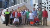 El Albergue Provisional que Cruz Roja de Águilas ha instalado en Pulpí recibe la visita de dos Diputados Nacionales