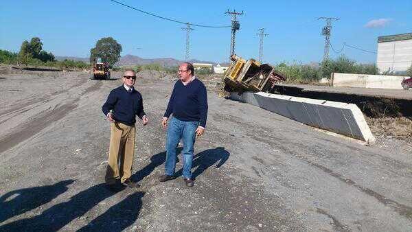 La CHS estudia los daños producidos por las inundaciones en Lorca y Puerto Lumbreras - 1, Foto 1