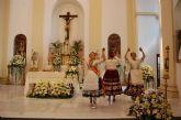 Alguazas festeja a su Patrona la Virgen del Rosario con una ofrenda de los niños nacidos este año en la localidad