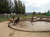Continúan los trabajos en las instalaciones deportivas de Puerto Lumbreras que quedaron anegadas tras las inundaciones