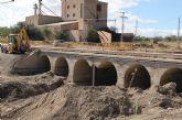 Continúan las obras de apuntalamiento y contención para evitar derrumbes en el Puente de Vilerda tras las inundaciones