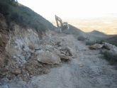 El paraje natural Cabezo de la Jara sufrió importantes daños por las inundaciones