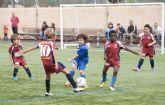 La lluvia fue protagonista en la primera jornada la Liga Local del Fútbol Base
