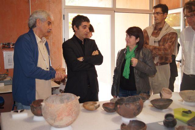 The Minister of Culture visits the Field Argárico La Bastida, Foto 3