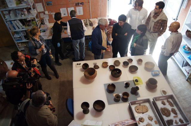 The Minister of Culture visits the Field Argárico La Bastida, Foto 4