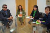La alcaldesa solicita al delegado territorial de la ONCE en Murcia la promoción del Yacimiento Argárico La Bastida y la agricultura totanera en los cupones durante el año 2013
