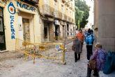 La calle Arco de la Caridad se une a las obras de remodelación del casco