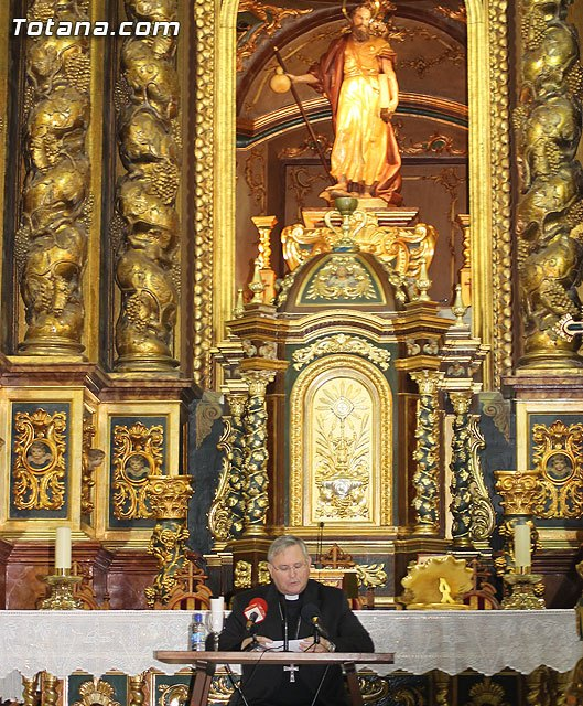 El Obispo de la Diócesis de Cartagena, Mons. Lorca Planes, imparte una conferencia en Totana para profundizar en el Año de la Fe - 2, Foto 2