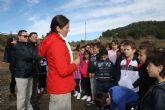 200 alumnos de los Colegios Ródenas y Artero plantan especies autóctonas en la Vía Verde